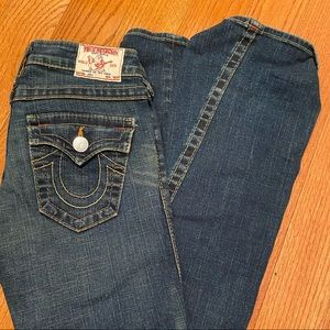 Women's SZ 24 Used True religion jeans